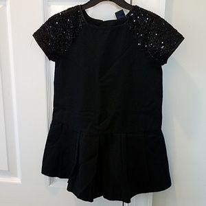 Girls Gap black dress, size 4-5.